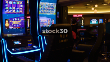 Two Slot Machines In Casino