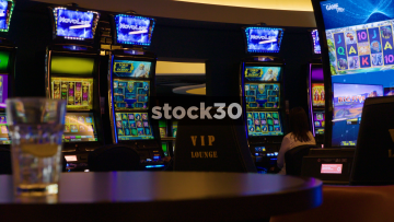 Various Slot Machines In Casino