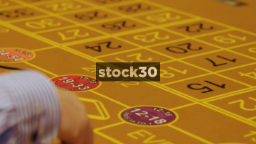 Game Of Roulette Being Played In Casino