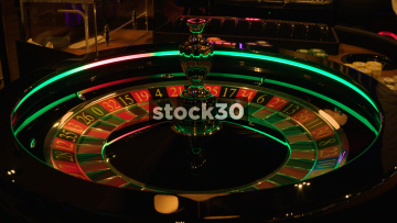 Spinning Roulette Wheel In Casino