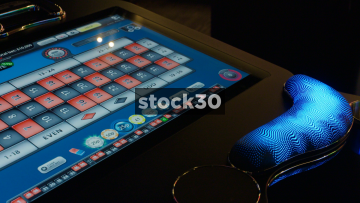 Electronic Roulette Table In Casino