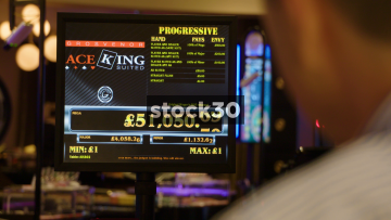 Electronic Prize Fund Screen In Casino