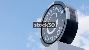 Signage At Grosvenor Casino, Sheffield, UK