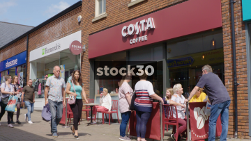 Costa Coffee On Castle Walk In Newcastle Under Lyme, UK