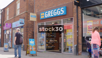 Greggs Bakery In Newcastle Under Lyme, UK