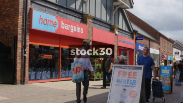 Home Bargains On Castle Walk In Newcastle Under Lyme, UK