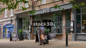 Yates Pub On Ironmarket In Newcastle Under Lyme, UK