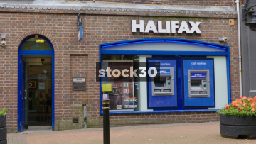Halifax Bank On Ironmarket In Newcastle Under Lyme, UK
