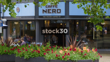 Caffe Nero On Ironmarket In Newcastle Under Lyme, UK