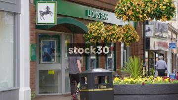 Lloyds Bank On Ironmarket In Newcastle Under Lyme, UK