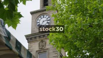 The Guildhall Clock In Newcastle Under Lyme, UK