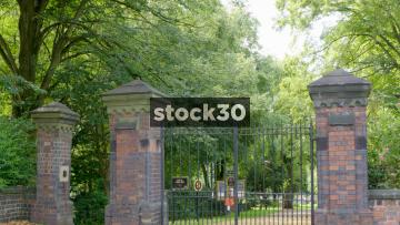 Stoke Cemetery Main Entrance Gates, UK