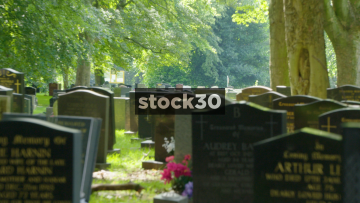 Gravestones in Stoke Cemetery, UK