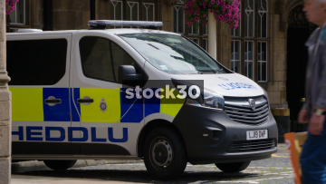 Welsh Police Van With Heddlu Livery, UK