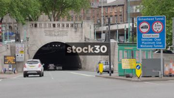 Birkenhead Tunnel Entrance In Liverpool, UK
