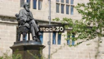 Charles Darwin Statue In The Grounds Of Shrewsbury Library, UK