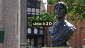 Mary Webb Statue In The Grounds Of Shrewsbury Library, UK