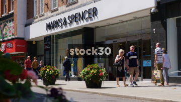 Marks And Spencer On Castle Street In Shrewsbury, UK