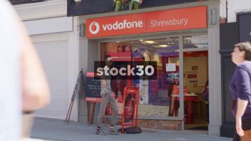 The Vodafone Store In Shrewsbury, UK