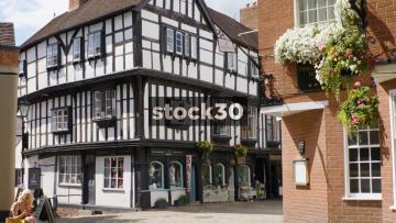 The Abbots House In Shrewsbury, Wide Shot, UK