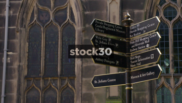 Tourist Directions Signs In Shrewsbury, UK