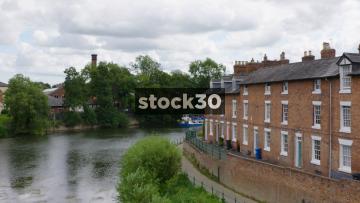 Passenger Boat On The River Severn In Shrewsbury, UK