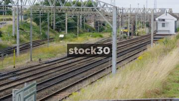 Freightliner Locomotive Passing By Near Crewe, UK