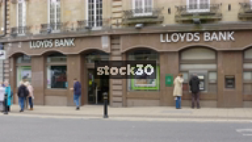 Lloyds Bank In Harrogate, Wide And Close Up, UK