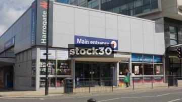 Main Entrance To Harrogate Railway Station, UK