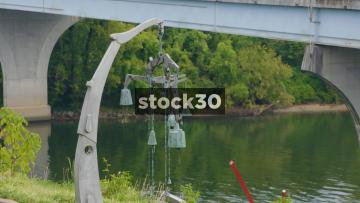 Sculpture Near Veterans Bridge In Bluff View Art District, Chattanooga, Tennessee, USA