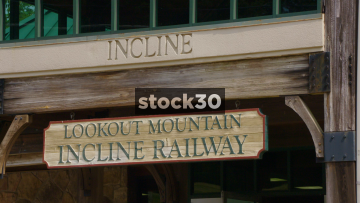 Lookout Mountain Incline Railway Station In Chattanooga, USA