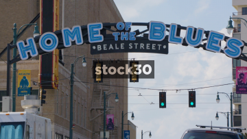 Beal Street Home Of The Blues Sign In Memphis, Tennessee, USA