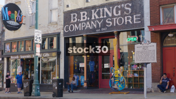 BB King's Company Store On Beal Street In Memphis, Tennessee, USA