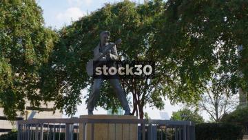 Statue Of Elvis Presley On Beal Street In Memphis, Tennessee