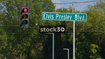 Elvis Presley Boulevard Near Graceland In Memphis, Tennessee, USA