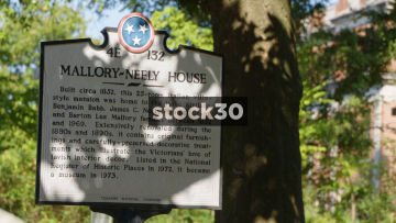 Mallory Neely House And Sign In Memphis, Tennessee, USA