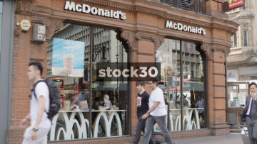 McDonald's on Oxford Street In London, UK