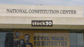 The National Constitution Center In Philadelphia, Pennsylvania, Close Ups, USA