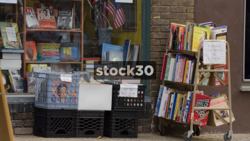 Second Hand Books Outside The Book Trader Book Shop On North 2nd Street, Philadelphia, Pennsylvania, USA
