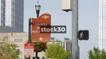 Sign For Country Music Hall Of Fame In Nashville, Tennessee, USA