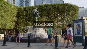 Fountain Outside Schermerhorn Symphony Center In Nashville, Tennessee, USA