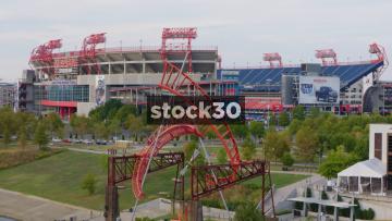 3 Shots Of The Nissan Stadium In Nashville, Tennessee, USA
