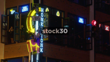 Kid Rock's Rock N Roll Steakhouse In Nashville, Tennessee, Close Up And Wide, USA
