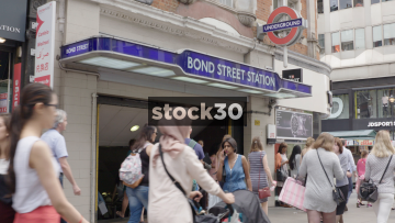 Bond Street Tube Station In London, UK