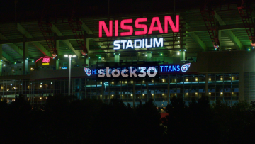 Night Shot Of Nissan Stadium In Nashville, Tennessee, USA