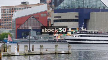 Large cruise boat in Inner Harbor, Baltimore, Maryland, USA