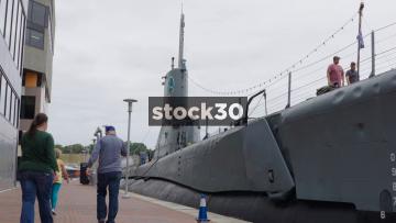 Close Ups On USS Torsk World War II Submarine At Inner Harbor, Baltimore, Maryland, USA