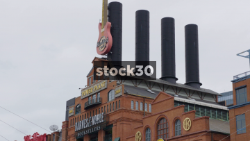 Power Plant Building In Baltimore, Featuring Barnes & Noble And Hard Rock Cafe, USA