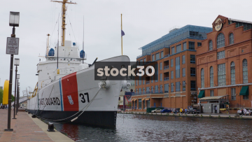 US Coast Guard Taney Historic Ship Docked In Baltimore, Maryland, USA
