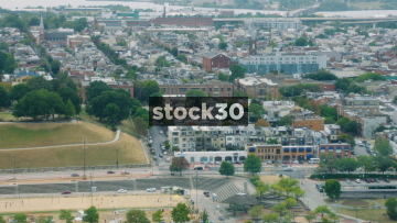 Two Aerial Shots Of Baltimore, Maryland, USA